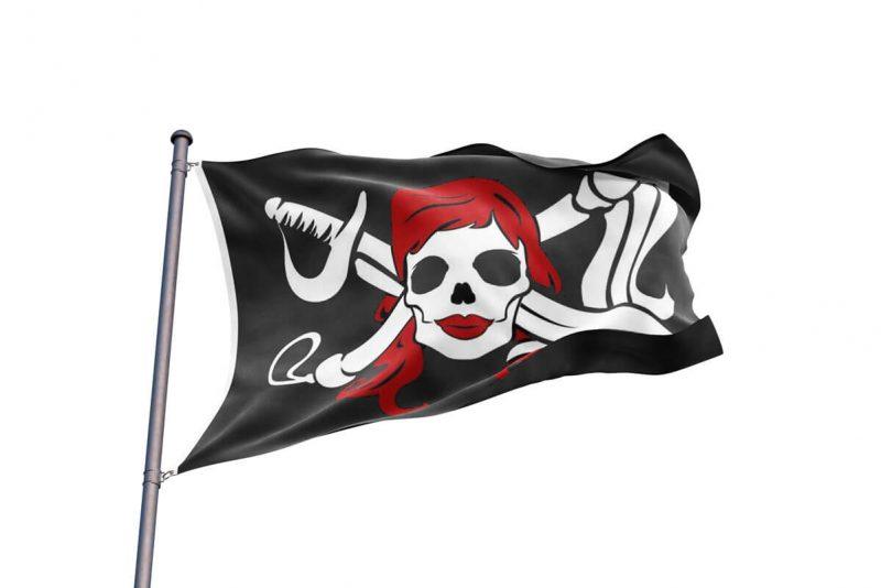 Drapeau Squelette Pirate Femme - Jolly Roger