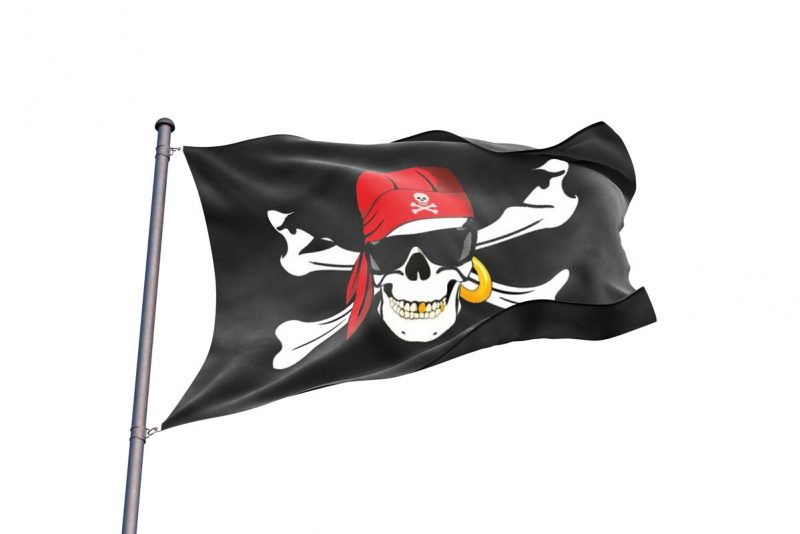 Drapeau Squelette Pirate Lunette -Jolly Roger