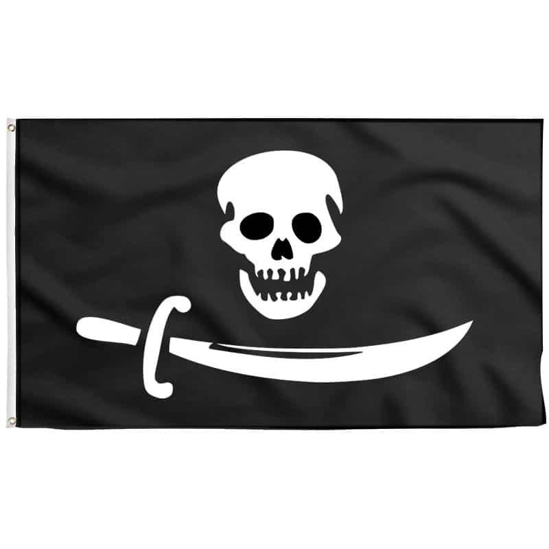 Drapeau Sur Bateau Pirate - Jolly Roger