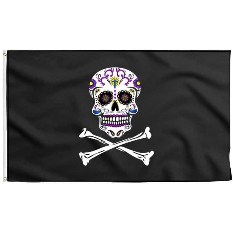 Drapeau Tête de Mort Mexicaine - Jolly Roger