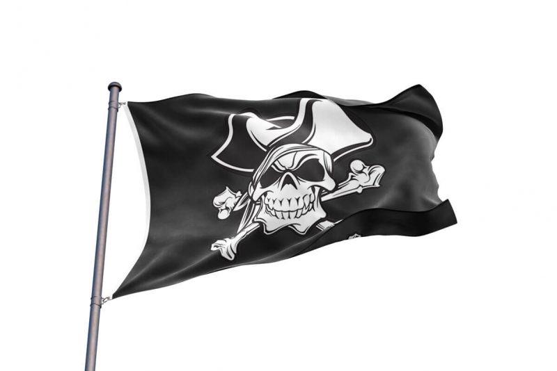 Drapeau Tête de Mort Pirate - Jolly Roger