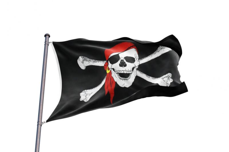 Pavillon Bateau Pirate - Jolly Roger
