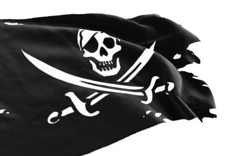 Pavillon Noir Déchiré Pirate - Jolly Roger