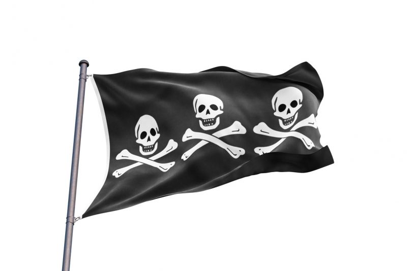 Pavillon Pirate Historique - Jolly Roger
