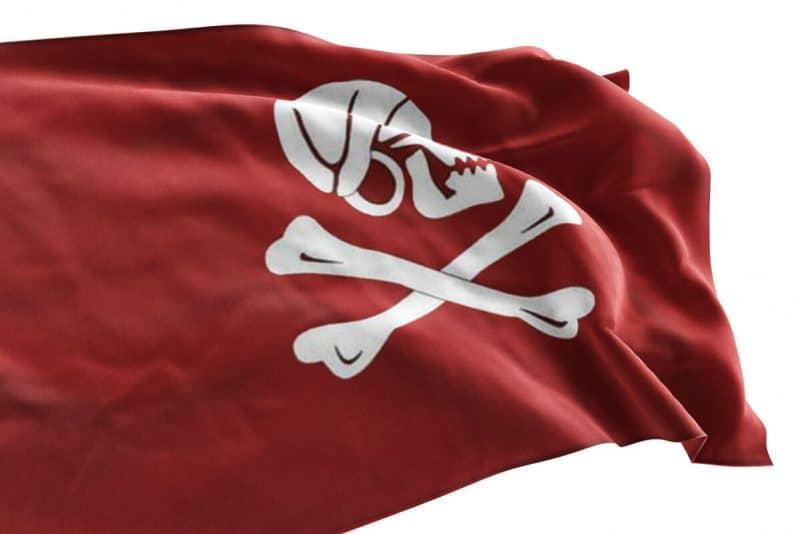 Pavillon Rouge de Pirate - Jolly Roger