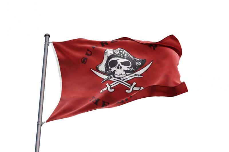 Pavillon Rouge des Pirates - Jolly Roger