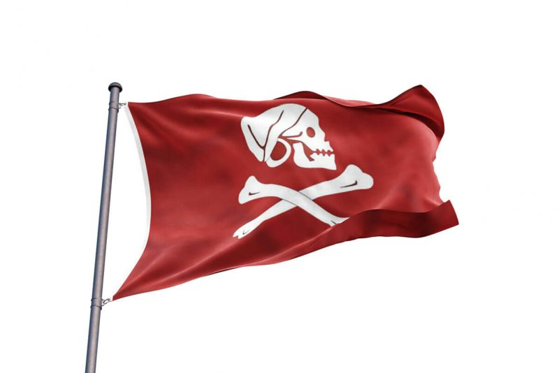 Pavillon Rouge Pirate - Jolly Roger