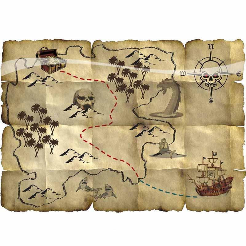 Ancienne Carte au Trésor - Jolly Roger
