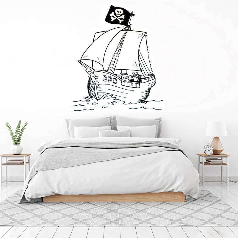 Autocollant Bateau Pirate - Jolly Roger