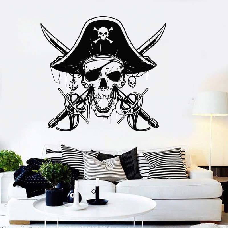 Autocollant Pirate - Jolly Roger