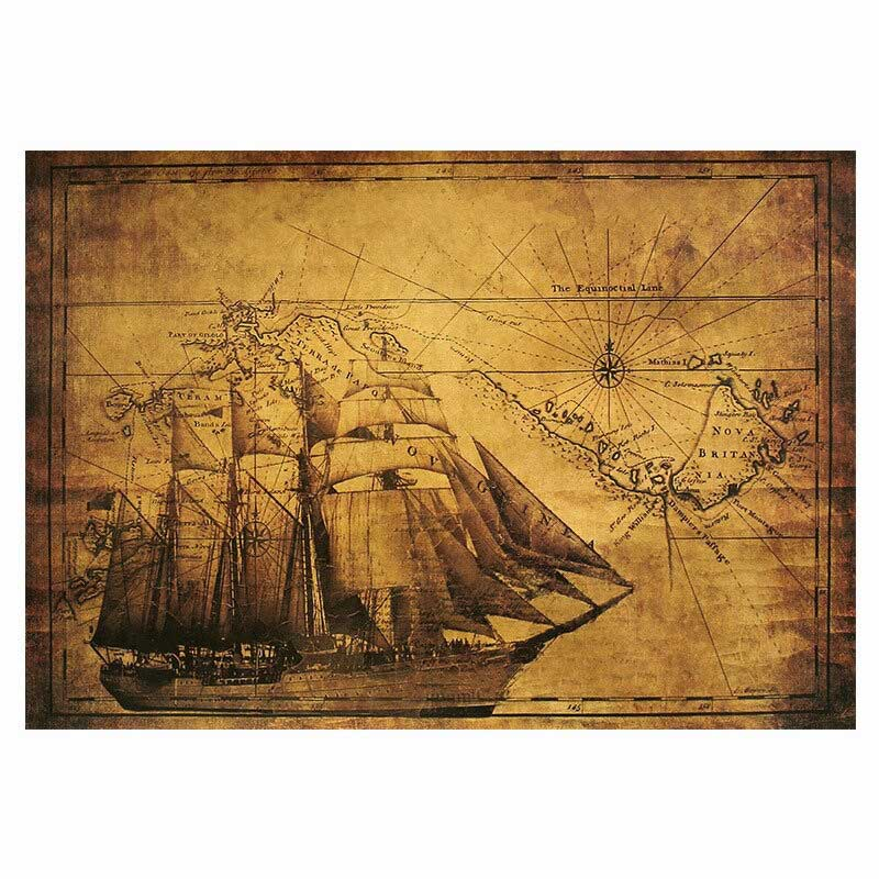 Carte au trésor bateau pirate - Jolly Roger