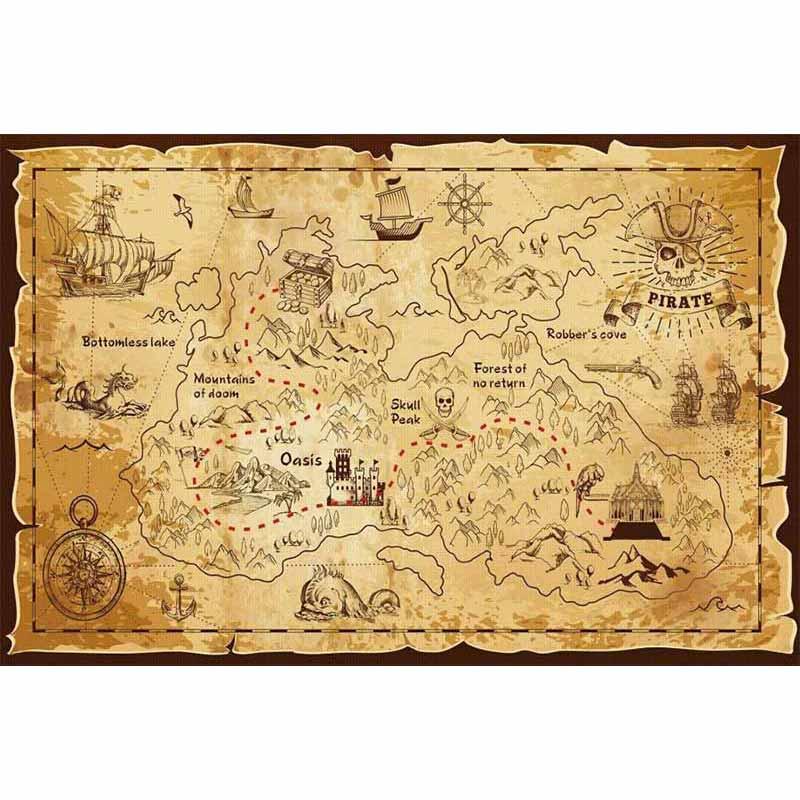 Carte au trésor des pirates - Jolly Roger