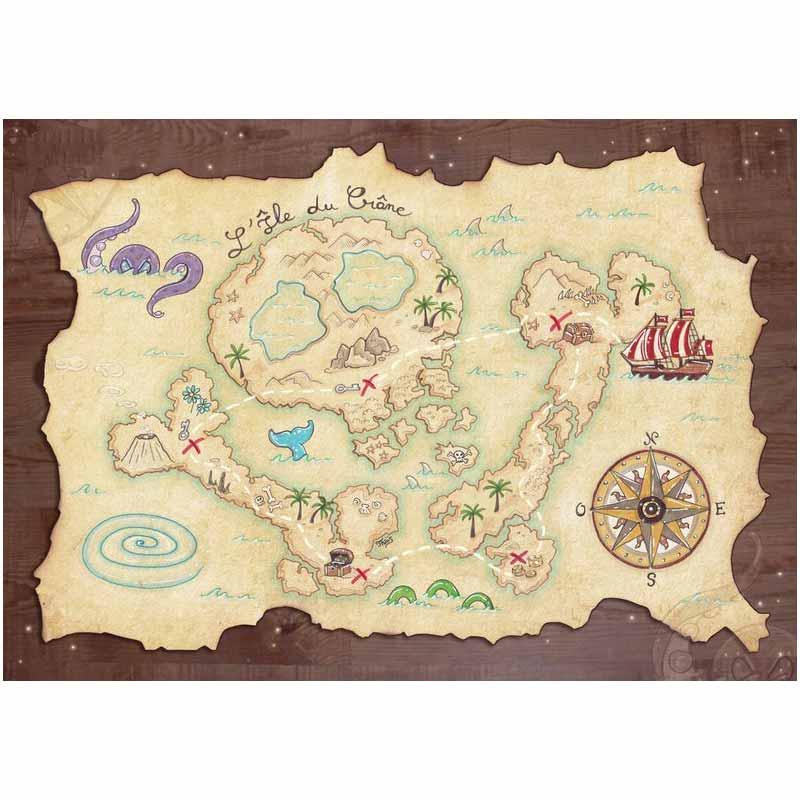 Carte au Trésor Pirate Enfant - Jolly Roger