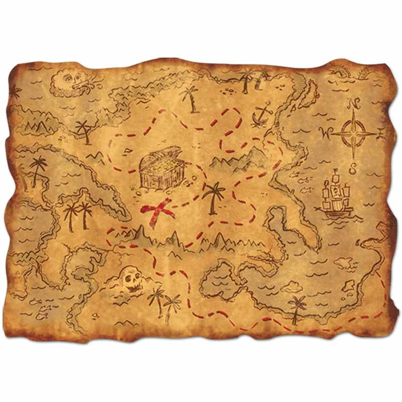Carte au Trésor pour Enfant - Jolly Roger