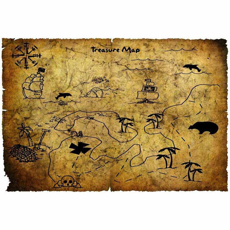 Carte Trésor Pirate - Jolly Roger
