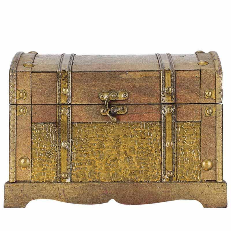 Coffre au trésor fermé pirate - Jolly Roger