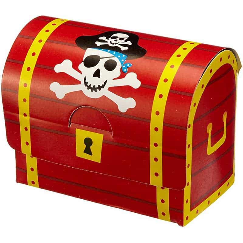 Coffre de Pirate en Carton - Coffre Pirate - Jolly Roger
