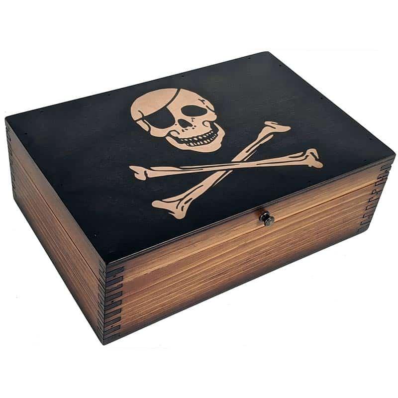 Coffre en Bois de Pirate - Coffre Pirate - Jolly Roger