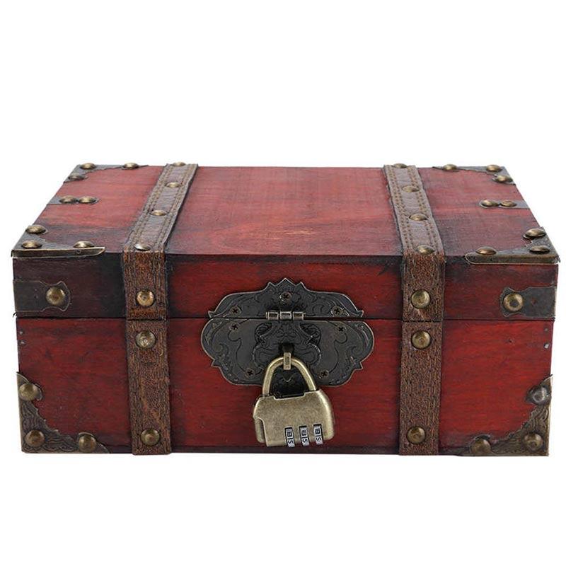Coffre en Bois Style Pirate - Coffre Pirate - Jolly Roger