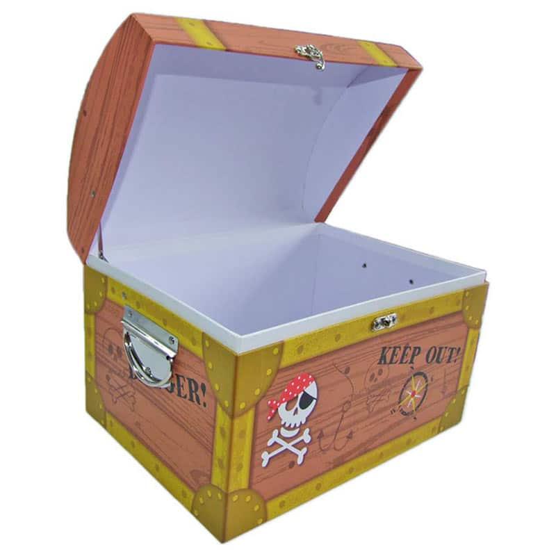 Coffre Fort Pirate en Carton - Coffre Pirate - Jolly Roger