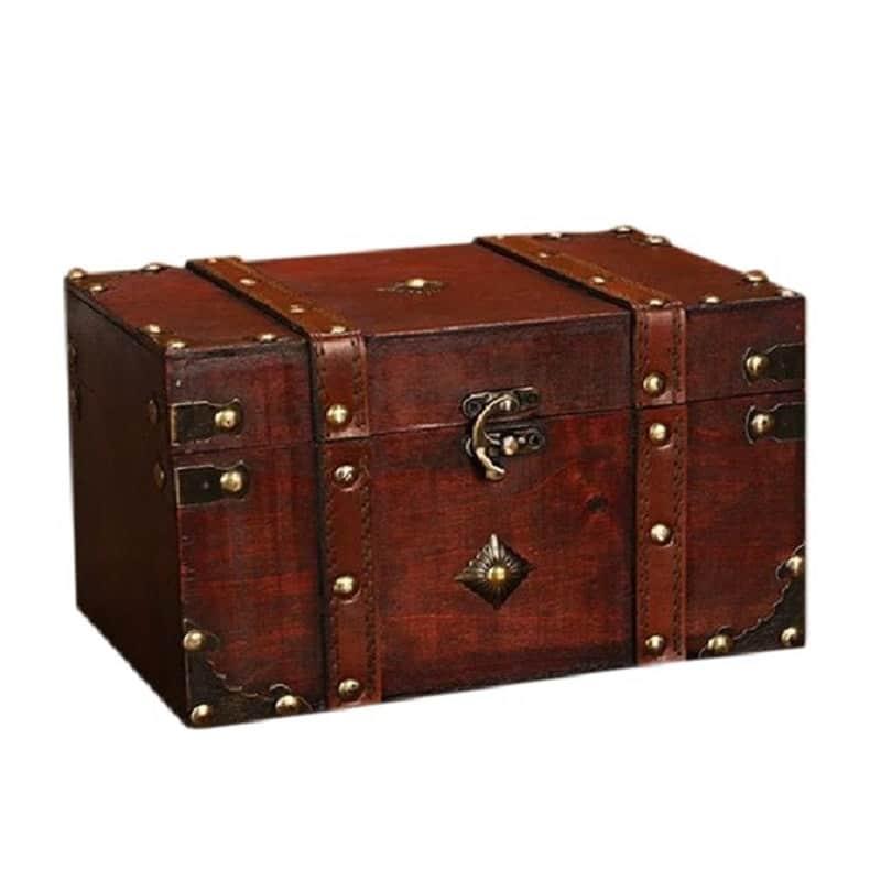 Coffre Pirate Bois - Jolly Roger