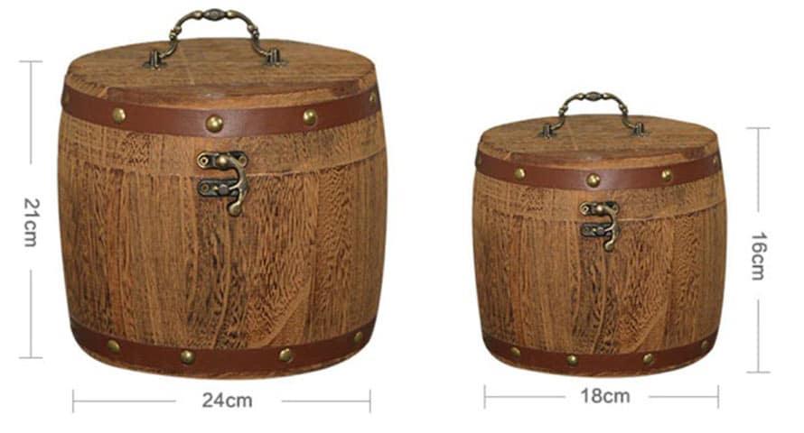 coffre tonneau - cherche coffre marin forme tonneau - coffre rangement type tonneau - coffre en trésor en forme de tonneau