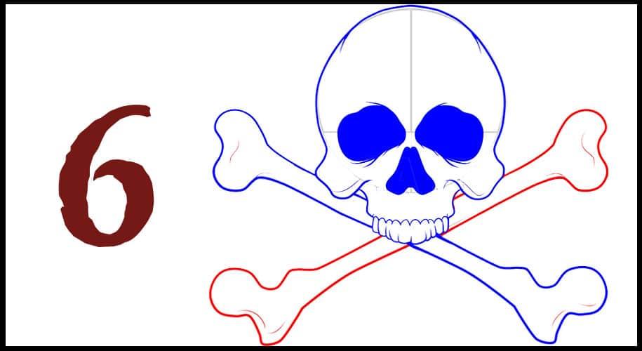 Comment dessiner un drapeau de pirate facile