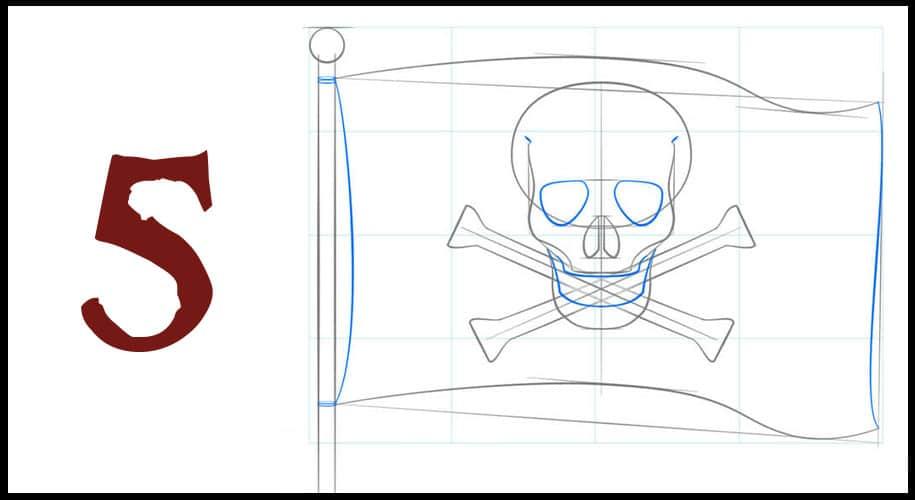 Comment dessiner un drapeau pirate ?
