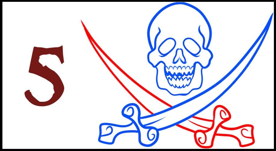 Dessin de Drapeau de Pirate