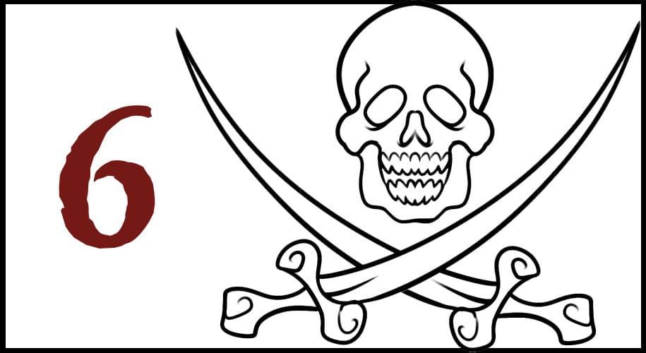 Dessin de Drapeau Pirate