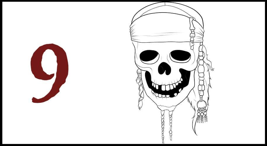 Dessin Drapeau Pirate des Caraibes