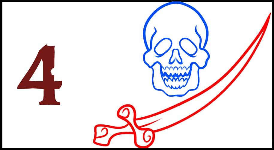 Dessin Drapeau Pirate épée