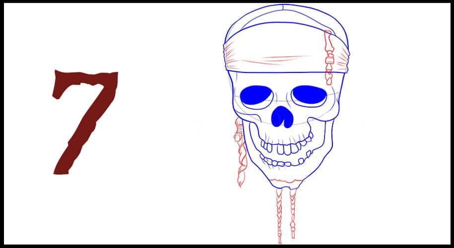 Dessin drapeau pirates