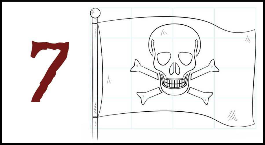 Dessin pirate drapeau