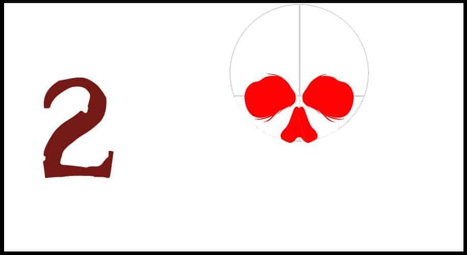 Dessin tête de mort drapeau pirate