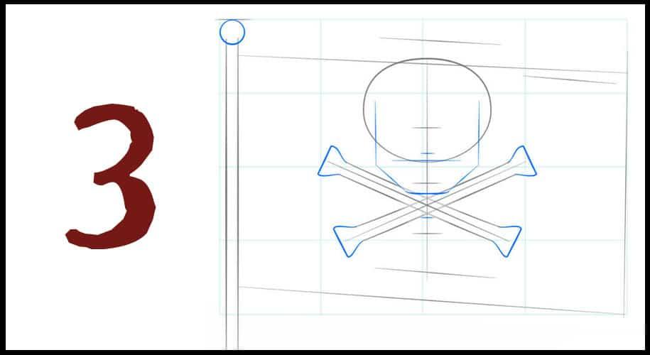 Dessiner un drapeau pirat