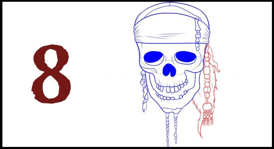 Drapeau de Pirate des Caraibes dessin