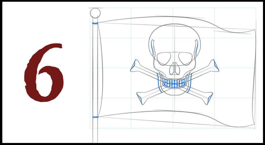Drapeau dessin pirate