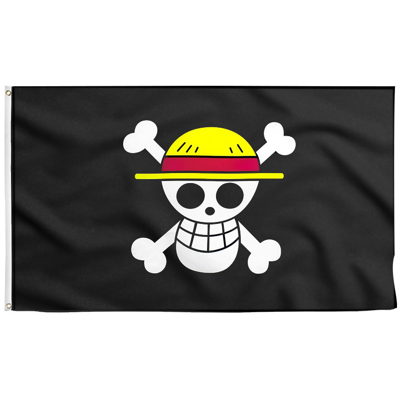 Drapeau PIrate de Luffy - One -Piece- Jolly Roger