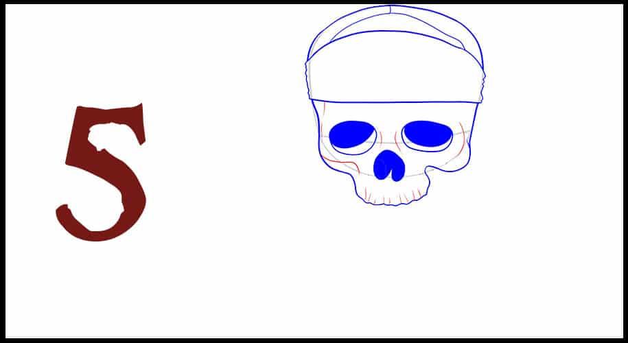 Drapeau Pirate des Caraibes dessin