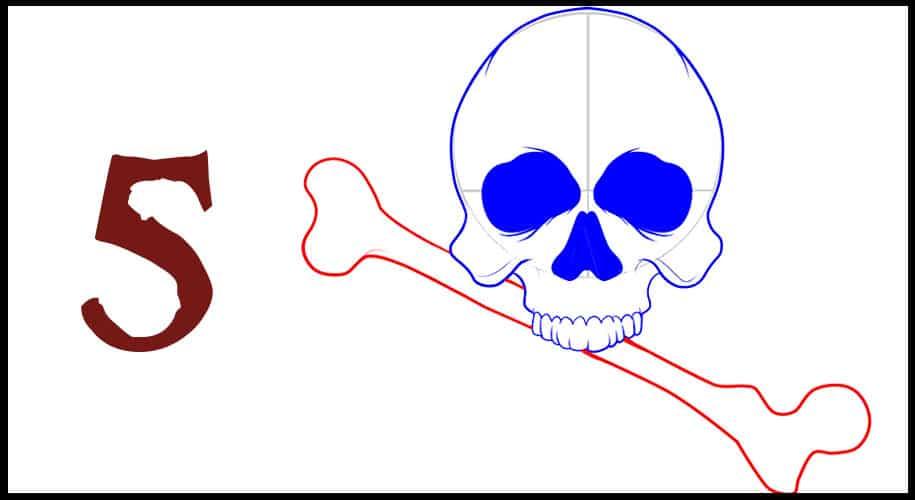Drapeau pirate facile à dessiner