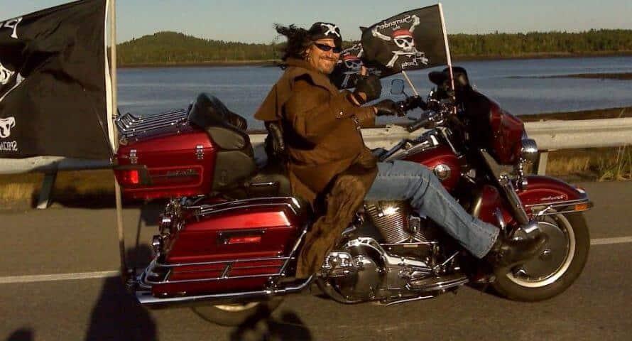 Drapeau Pirate pour moto et biker - Jolly Roger