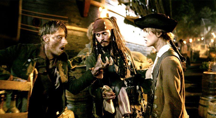 Elizabeth Swann et Jack Sparrow