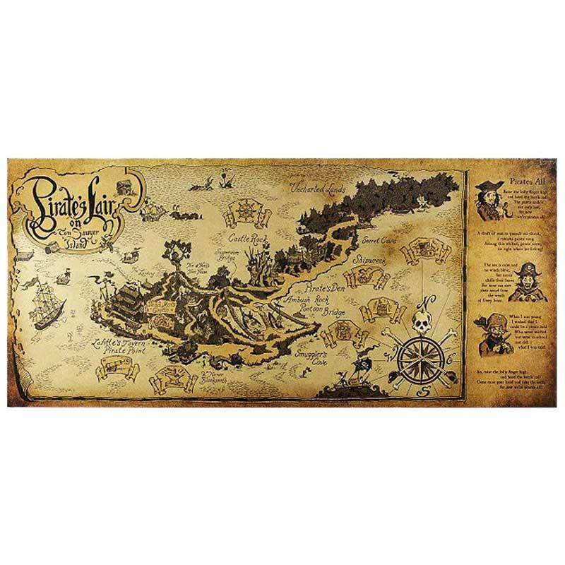 Parchemin carte au trésor pirate - jolly roger