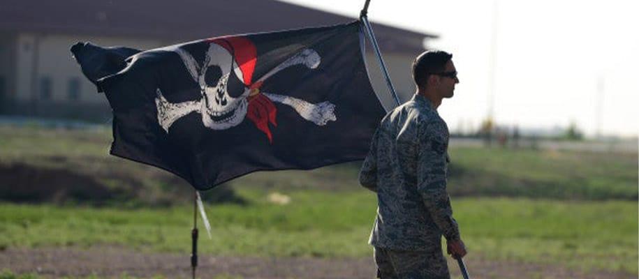 Pavillon Noir Jolly Roger emblème célèbre