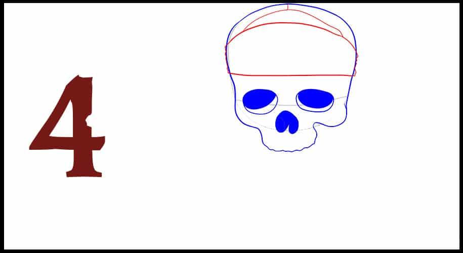 Pirate des Caraibes Drapeau dessin