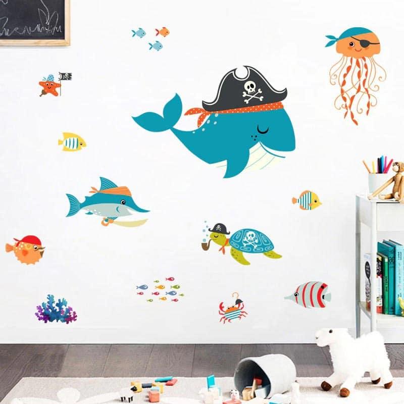 Stickers Baleine Pirate - Jolly Roger