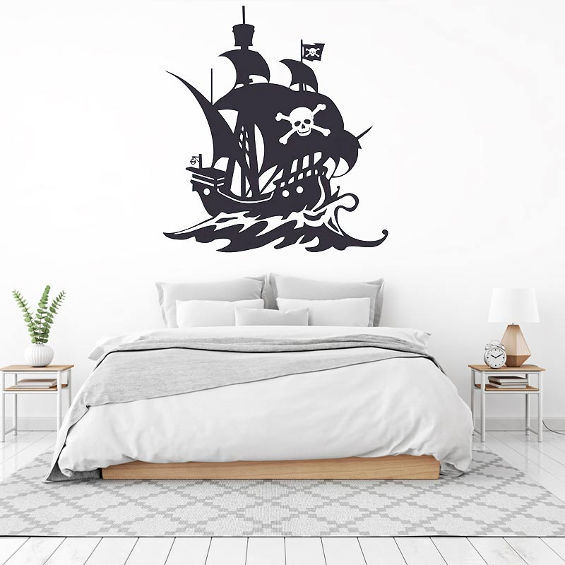 Stickers Bateau Pirate - Jolly Roger