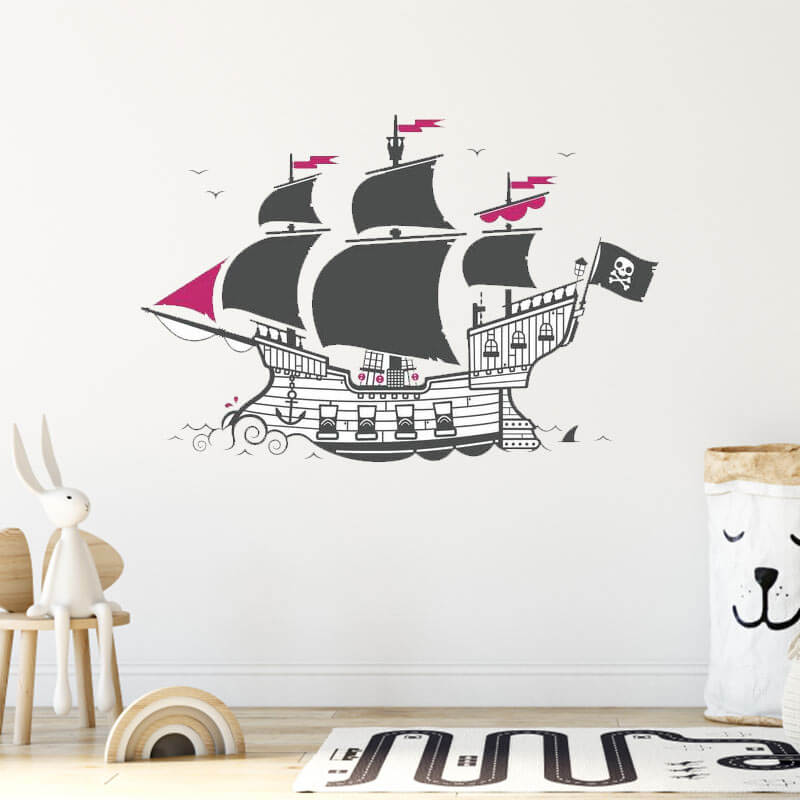 Stickers Chambre Fille Pirate - Jolly Roger