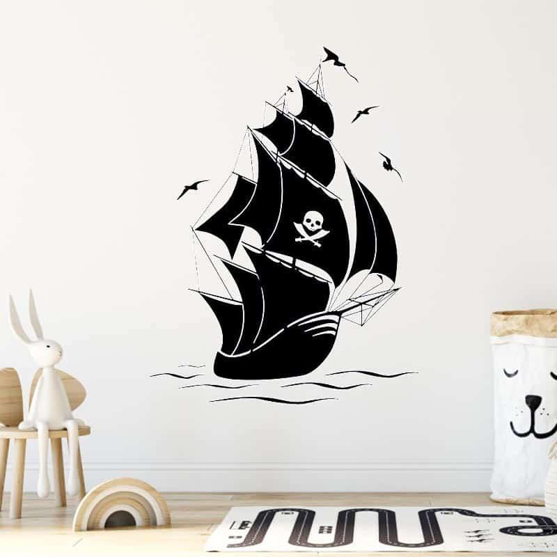 Stickers chambre garçon pirate - Jolly Roger